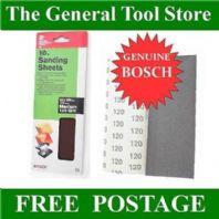 BOSCH 93 X 230 MM 1/3 SANDING SHEETS. PSS 23 A PSS 22  230 KA185 QTY10 MEDIUM120